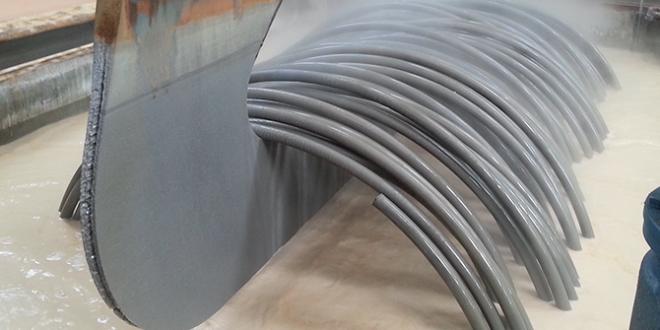 Traitement de surface pour fil de frappe